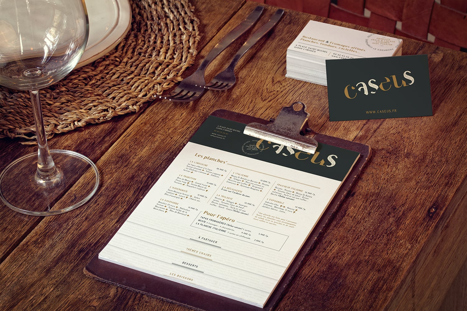 charte-graphique-graphiste-restaurant-fromages-menu-carte-de-visite-carte-planches-web