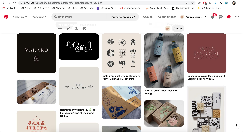 pinterest pour l'inspiration graphique et la recherche de références visuelle