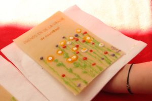 dessin sur papier comestible avec encre vegetale