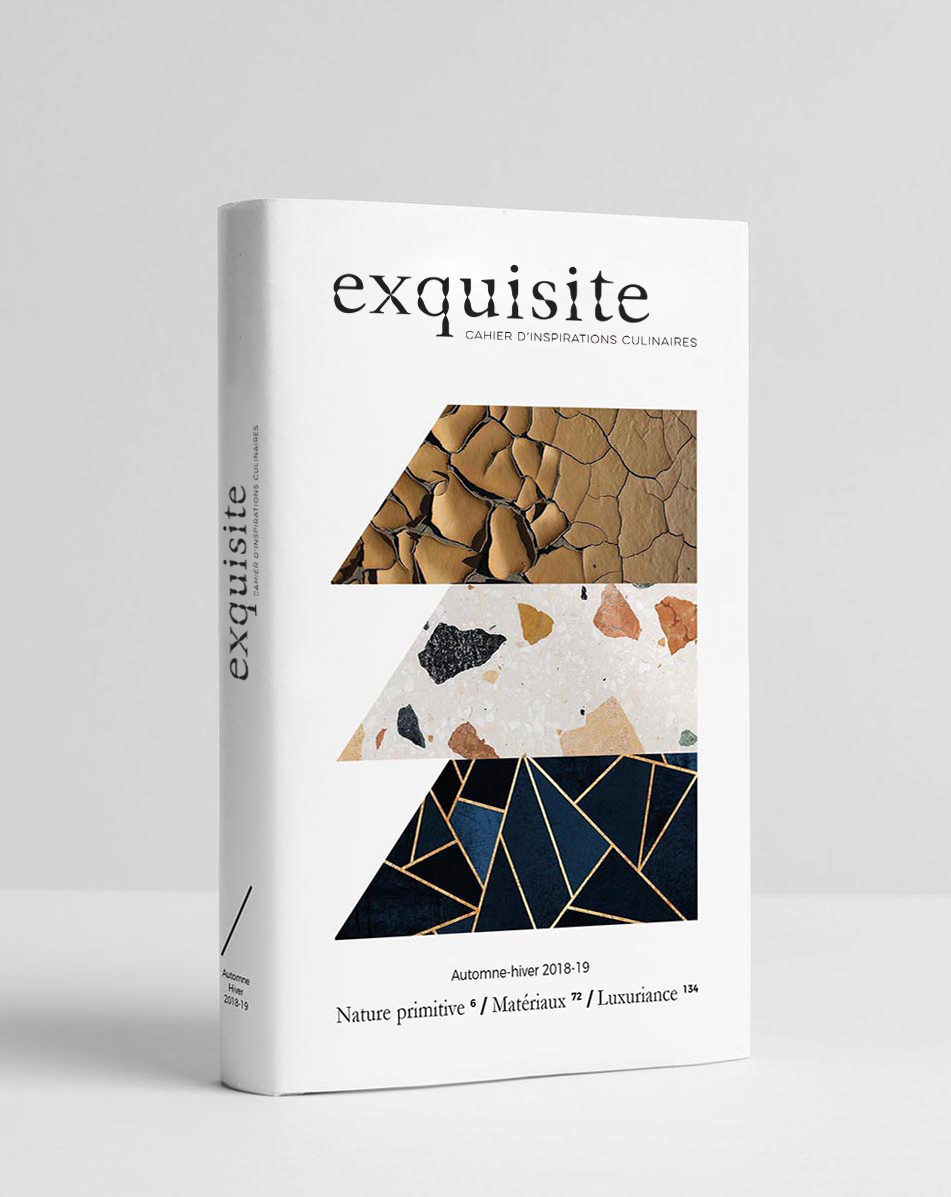 Cahier inspirations culinaires exquisite Automne Hiver 2018 2019 Design culinaire